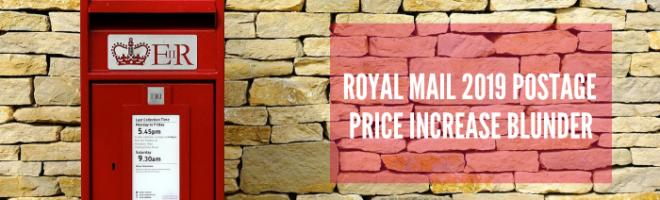 ROYAL MAIL BREAK STAMP PRICE FOR 2019 POSTAGE INCREASE